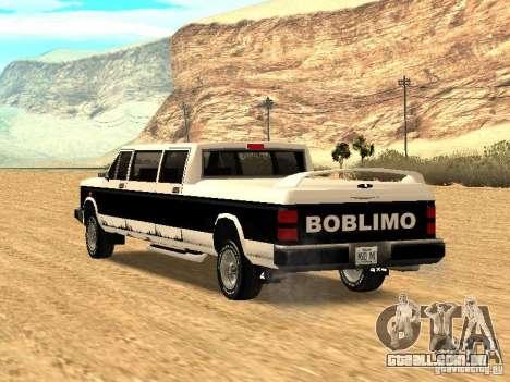 BOBCAT Limousine para GTA San Andreas esquerda vista