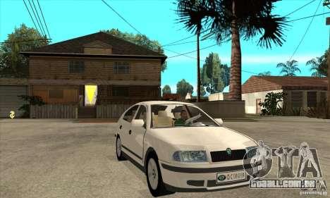 Skoda Octavia para GTA San Andreas vista traseira