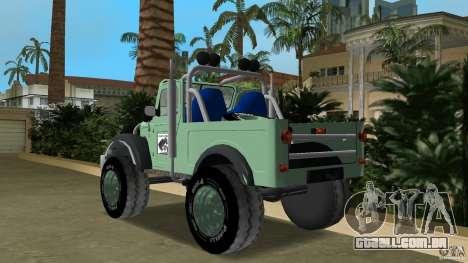 Aro M461 Offroad Tuning para GTA Vice City vista traseira esquerda
