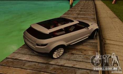 Land Rover Range Rover Evoque para GTA San Andreas vista traseira