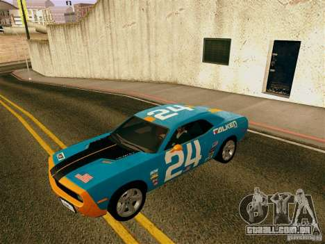 Dodge Challenger SRT8 para GTA San Andreas vista inferior