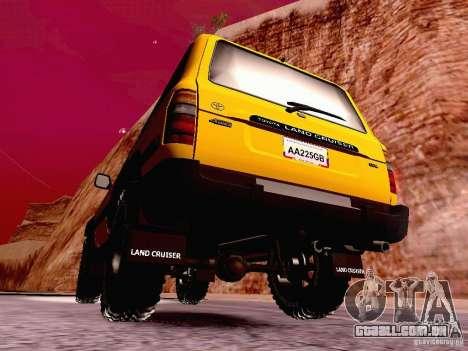 Toyota Land Cruiser 80 Off Road Rims para GTA San Andreas traseira esquerda vista
