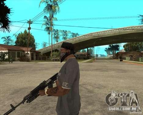 AKS-74 m com GP-25 para GTA San Andreas segunda tela