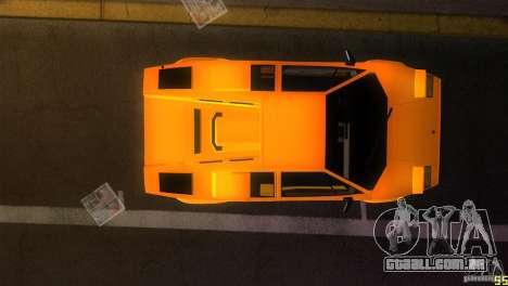 Lamborghini Countach para GTA Vice City vista interior