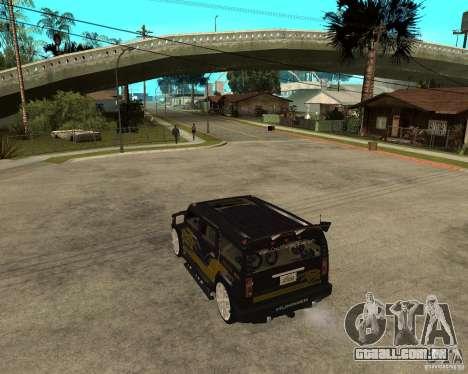 H2 HUMMER DUB LOWRIDE para GTA San Andreas esquerda vista