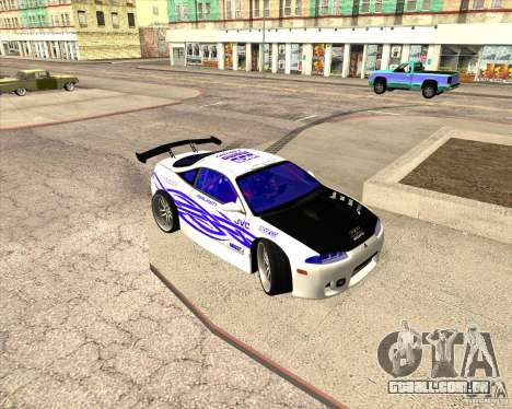Mitsubishi Eclipse street tuning para GTA San Andreas vista superior