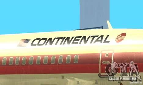 Boeing 707-300 para GTA San Andreas vista interior