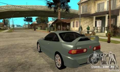 Acura Integra Type-R - Stock para GTA San Andreas traseira esquerda vista