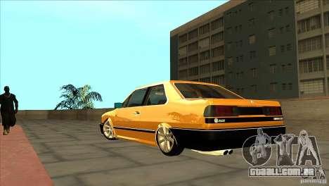 Volkswagen Santana GLS para GTA San Andreas traseira esquerda vista