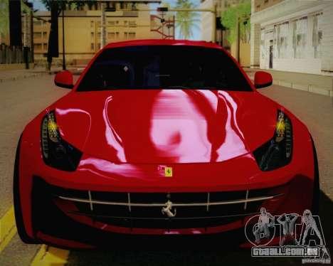Ferrari FF Sport 2011 para GTA San Andreas vista traseira