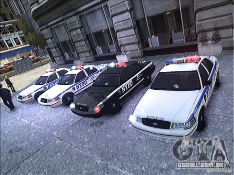 Ford Crown Victoria NYPD 2012 para GTA 4 vista superior