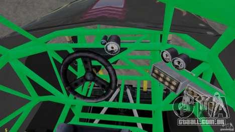 Grave digger para GTA 4 vista de volta