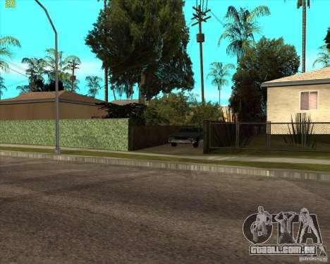 Car in Grove Street para GTA San Andreas por diante tela