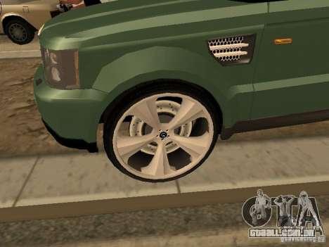 Land Rover Range Rover Sport para GTA San Andreas traseira esquerda vista
