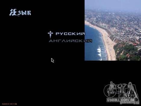 Novo menu no estilo de Los Angeles para GTA San Andreas sexta tela