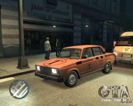 Táxi de 2105 VAZ para GTA 4