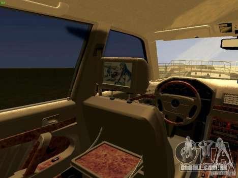 Mercedes-Benz S600 V12 para GTA San Andreas vista traseira