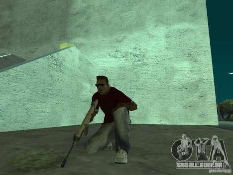 FN Scar-L HD para GTA San Andreas sexta tela