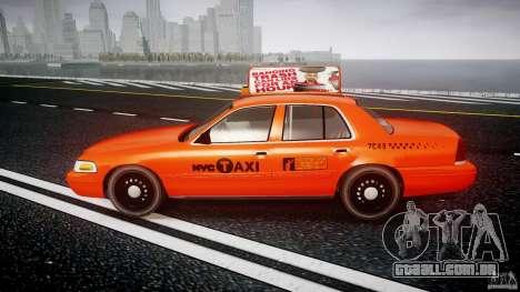 Ford Crown Victoria 2003 v.2 Taxi para GTA 4 esquerda vista