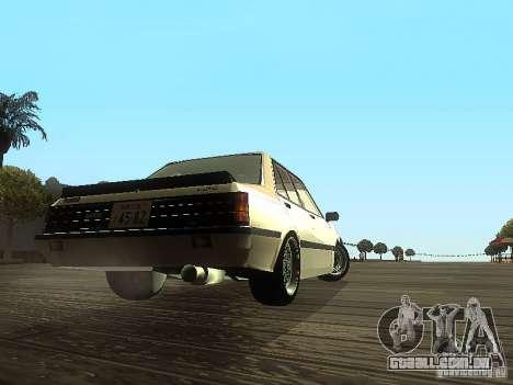 Mitsubishi Lancer EX Turbo 1983 para GTA San Andreas vista direita