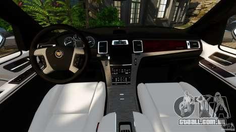 Cadillac Escalade ESV 2012 para GTA 4 vista de volta