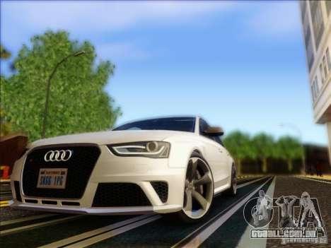 Audi RS4 Avant B8 2013 para GTA San Andreas esquerda vista