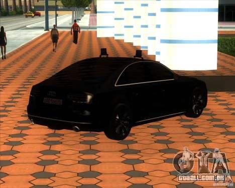 Audi A8 2010 v2.0 para GTA San Andreas vista interior