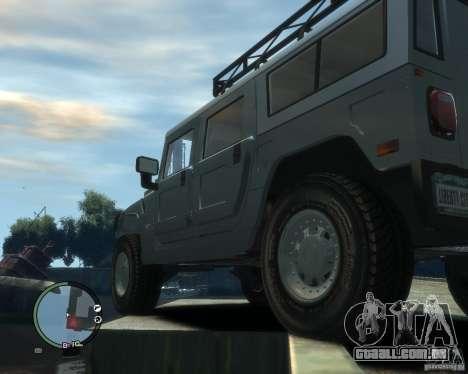 Hummer H1 para GTA 4 vista lateral