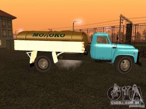 GAZ-53 tanque de leite para GTA San Andreas esquerda vista