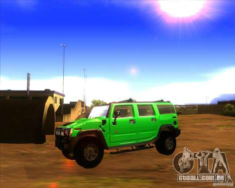 Hummer H2 updated para GTA San Andreas esquerda vista