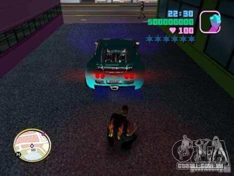 Bugatti Veyron para GTA Vice City vista traseira