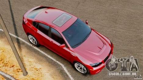 BMW X6 M 2010 para GTA 4 vista direita