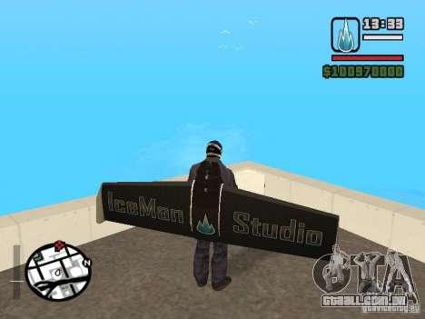Jetwing Mod para GTA San Andreas por diante tela