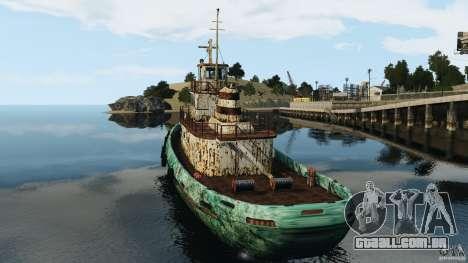 Realistic Rusty Tugboat para GTA 4 traseira esquerda vista