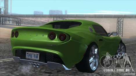 Lotus Elise para GTA San Andreas vista inferior