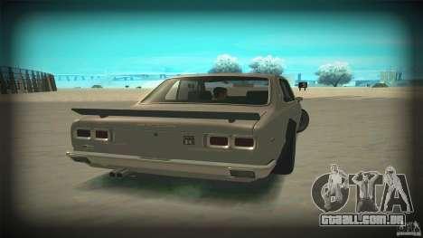 Nissan Skyline 2000GT-R JDM Style para GTA San Andreas vista interior