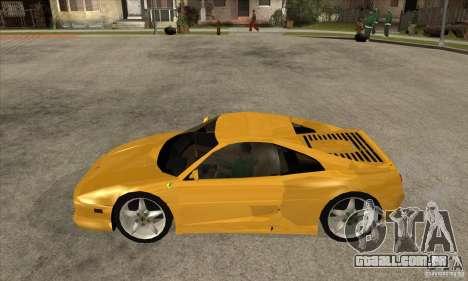 Ferrari F355 GTS para GTA San Andreas esquerda vista