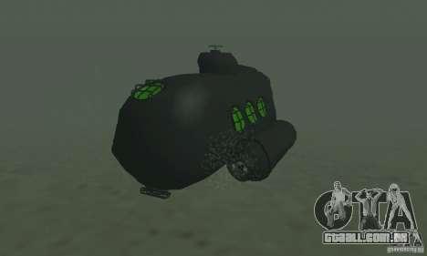 Submarino para GTA San Andreas traseira esquerda vista