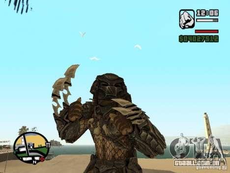 Predador Predator (a máscara) para GTA San Andreas segunda tela