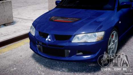 Mitsubishi Lancer Evolution VIII para GTA 4 vista lateral