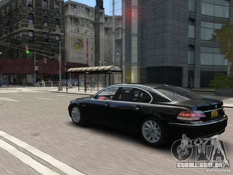 BMW 7 Series E66 2011 para GTA 4 vista inferior