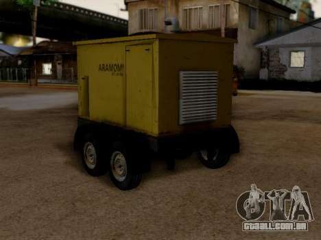 Trailer Generator para GTA San Andreas esquerda vista