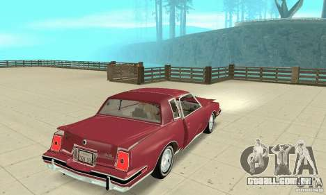 Pontiac Grand Prix 1985 para GTA San Andreas vista superior