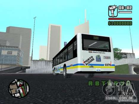 Onibus para GTA San Andreas vista traseira