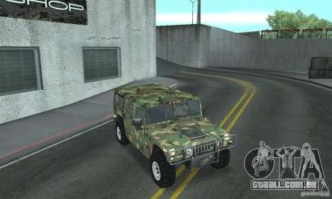 Hummer H1 para o motor de GTA San Andreas