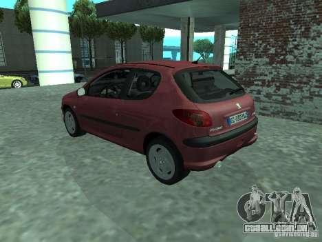 Peugeot 206 HDi 2003 para GTA San Andreas esquerda vista