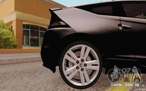 Honda CR-Z 2010 V3.0 para GTA San Andreas vista traseira