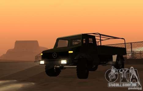 Mercedes-Benz Unimog para GTA San Andreas traseira esquerda vista
