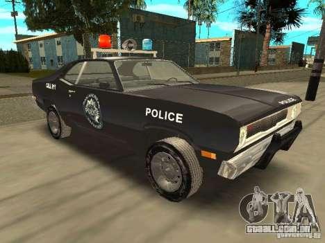 Plymout Duster 340 POLICE v2 para GTA San Andreas vista traseira