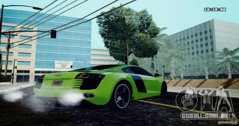 Audi R8 Light Tuned Version para GTA San Andreas esquerda vista